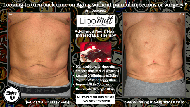 Gene LipoMelt Abs Tighten and Tone Saggy Skin Remove Stubborn Fat Pain Stimulate Collagen and Elastin Red and Near-Infrared Red-Light Therapy